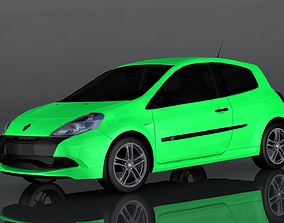 Renault Clio 3D model game-ready