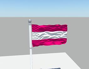 3D model Austria Flag