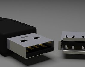 USB MODEL A MALE E FEMALE game-ready