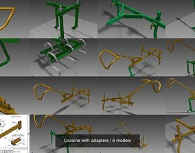 3D model Cassine with adapters
