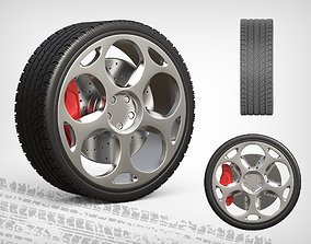 3D model Wheel Lamborghini Gallado 2005