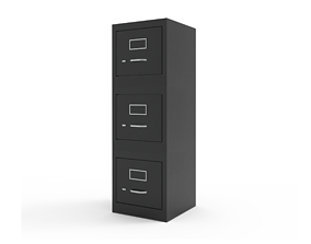 3D asset Compact Three Drawer File Cabinet