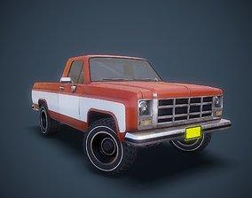 3D model Gameready american pickup