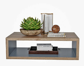 3D model Coffee table with decor coffee-table