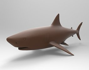 3D printable model Great White Shark creature