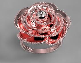 Rose ring 3D print model prototype