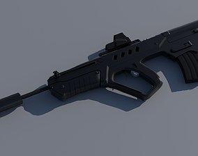 3D asset IWI Tavor TAR-21 EOTech and Suppressor