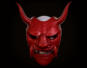 3D printable model Samurai Assassin Oni Mask