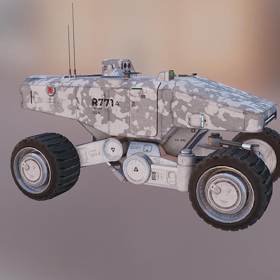 Mars Military Rover Transporter