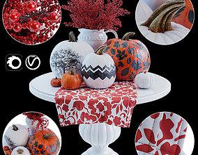 Decorative composition pumpkin 3D