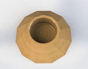 Wood plenter or plate 3D model