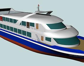 Passenger trip ship 3D model