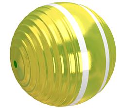 Croquet Ball yellow 3D model