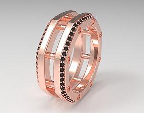 3D print model Rockford 2 Row With Diamond Rings in Eu 63