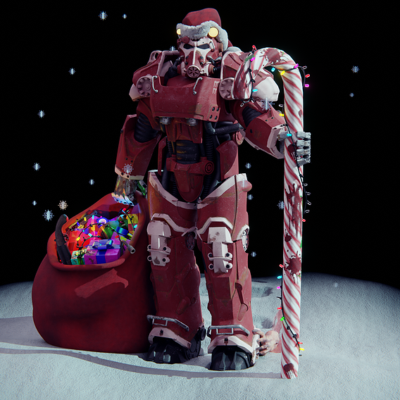 Santa from the Wastelands Fallout
