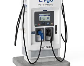 Electric Vehicle Charging Station EV GO 4 3D