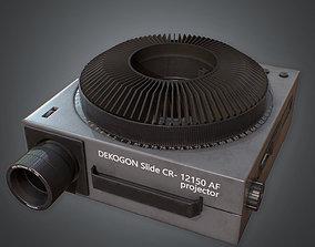80s - Slide Projector 3D model