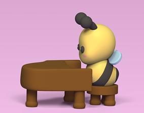 3D print model Bee on piano