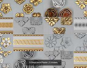 5 Decorative Plaster decoration 3D