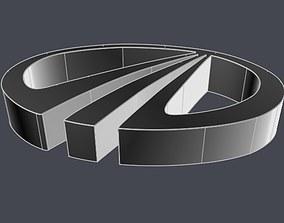 Mahindra logo CAD model 3D