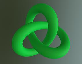 3D asset Torus Knot 2-3