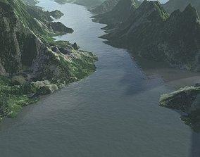 mountain Lake water landscape 3D