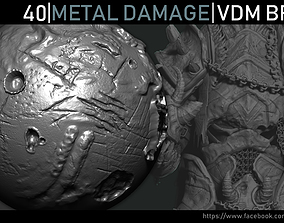 3D Zbrush - Metal Damage VDM Brush