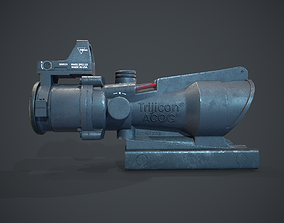 Trijicon ACOG scope 3D model