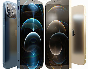 3D asset AVE Apple iPhone 12 PRO PBR UNREAL ENGINE
