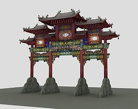 China ancient torii 4 3D model
