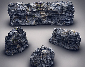Rocks Stones set 3D model game-ready