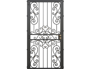 3D Wrought iron gate 05