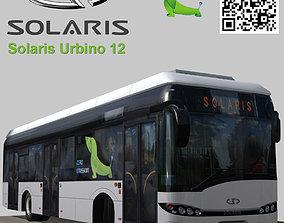 3D asset Solaris Urbino 12 Electric bus