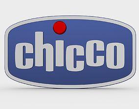 chicco logo 3D model symbol