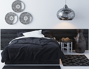 3D Bed in bedroom