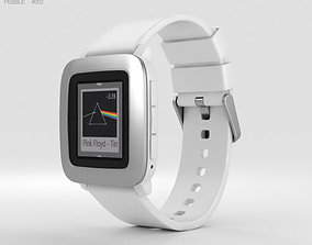 Pebble Time White 3D