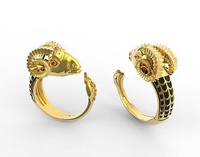 3D Anel Bode - Goat Ring