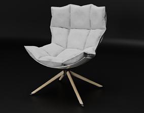 pillow armchair 3D model rigged