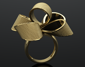 MGold048 Bow Knot Ring 3dmodel 3D print 3dm stl 3D 1