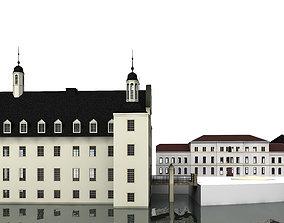 Romantic moated castle 3D model