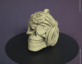 Pirate skull pendant vol 1 3D printable model silver