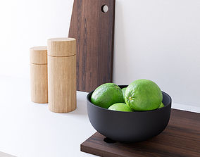 Decor Set Lime Bowl 3D
