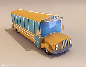 Cartoon City School Bus 3D model