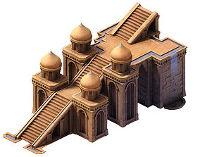 3D model Muslim - palace stairs 02