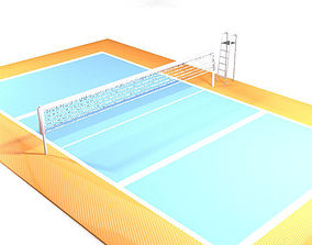 Game Court - Volleyball 3D model