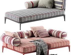 3D Bebitalia Ribes sofa rbr201lb rbr145lb 1
