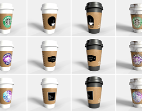 PBR Coffee Cup - Big Collection 3D