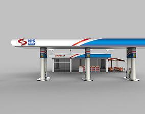 Filling station exterior format S 3D model