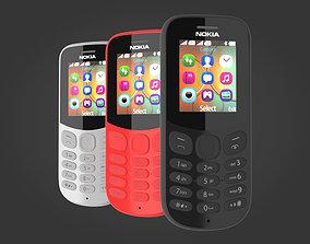 Nokia 130 2017 all colors 3D