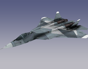 Su-57 Stealth Fighter 3D asset